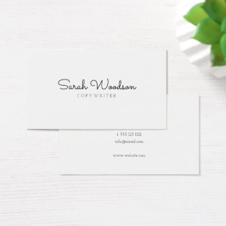 Minimalist Stylish Business Card