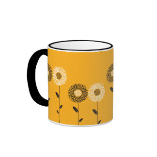 Minimalist Sunflower Custom Color Coffee Mug