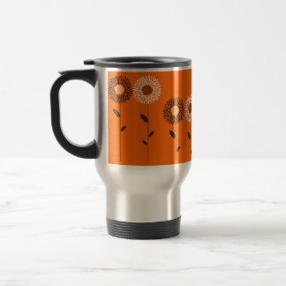 Minimalist Sunflower Custom Color Travel Mug