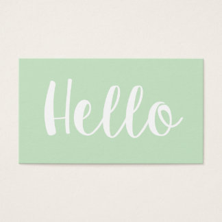 Minimalist trendy bold pastel green business cards