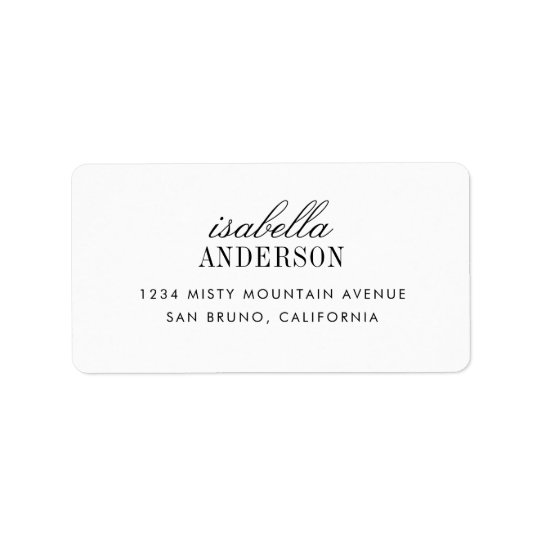 Minimalist Typography   Modern Wedding Label