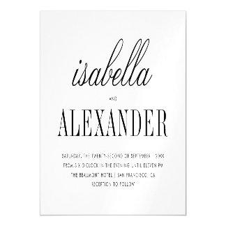 Minimalist Typography   Modern Wedding Magnetic Card