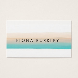 Minimalist Watercolor Brush Stroke Business Card