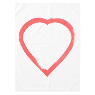 Minimalist Watercolor Wedding Heart Tablecloth