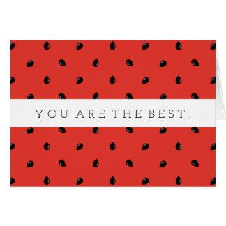 Minimalist Watermelon Seed Pattern Card