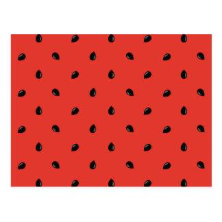 Minimalist Watermelon Seed Pattern Postcard