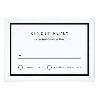 Minimalist Wedding RSVP 9 Cm X 13 Cm Invitation Card