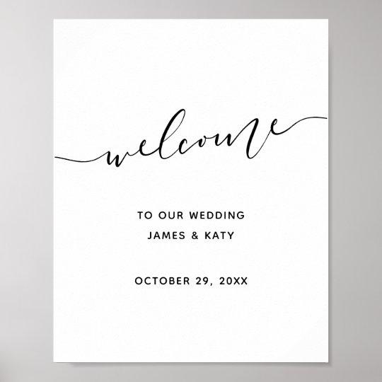 Minimalist wedding welcome sign | Wedding poster