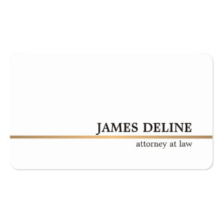 Minimalist White Copper Line Attorney Pack Of Standard Business Cards