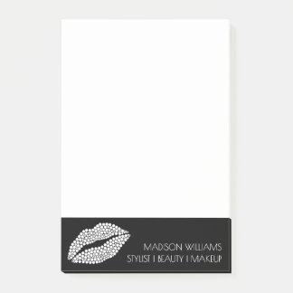Minimalist | White Lips Stylist Chic Bold Post-it Notes
