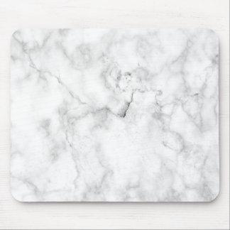 Minimalist White Marble Mousepad