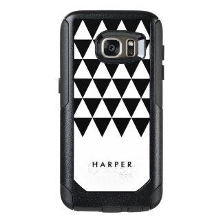 Minimalist White Personalize Name Black Triangle OtterBox Samsung Galaxy S7 Case