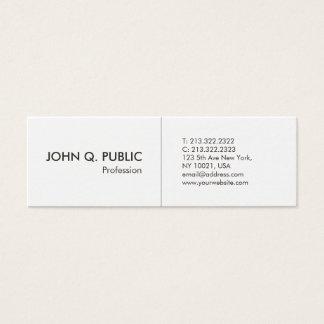 Minimalist White Professional Simple Elegant Mini Business Card