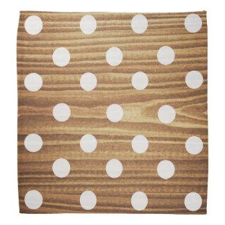Minimalist wood polka dots. bandana