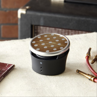 Minimalist wood polka dots. bluetooth speaker