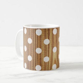 Minimalist wood polka dots. coffee mug