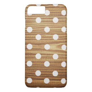 Minimalist wood polka dots. iPhone 8 plus/7 plus case