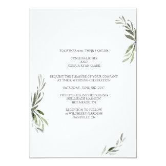 Minimalistic Branches Wedding Invitation