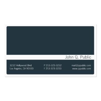 Minimalistic Dark Grey Blue Business Card 2