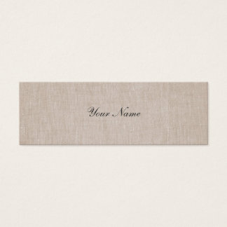 Minimalistic Elegance Linen Mini Profile Card