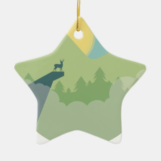 Minimalistic Forest Environment Christmas Ornament
