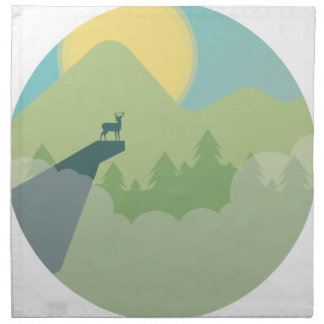 Minimalistic Forest Environment Napkin