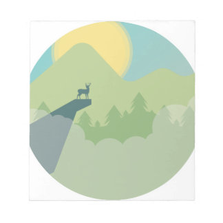 Minimalistic Forest Environment Notepad