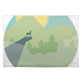 Minimalistic Forest Environment Placemat
