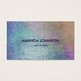 Minimalistic Glam Stylist Make Up Artist Vip Business Card