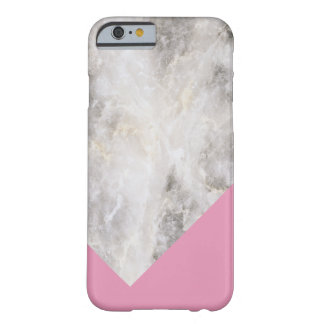 Minimalistic Marble w\ Color Block Pink Barely There iPhone 6 Case