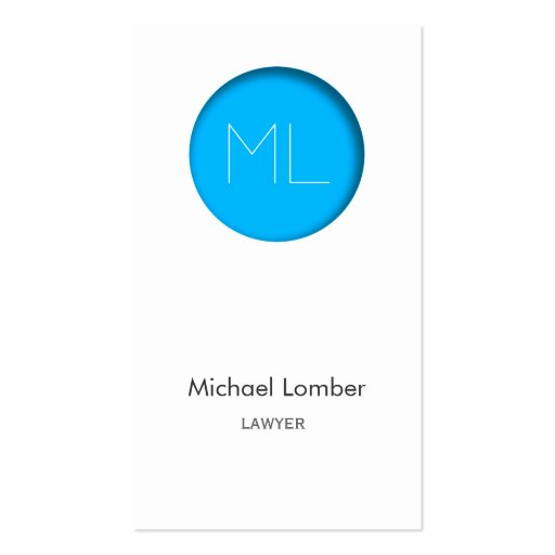 Minimalistic modern Business Card blue circle