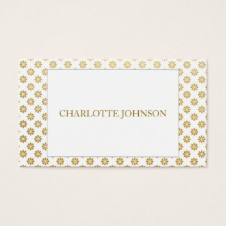Minimalistic Modern Golden White Vip Business Card