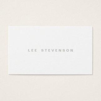 Minimalistic Modern Plain White Professional