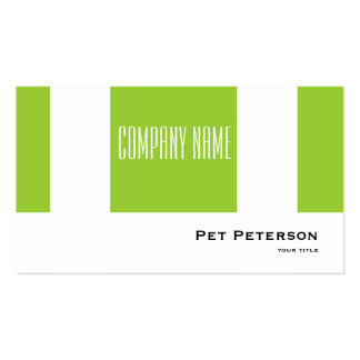 Minimalistic modern square green pack of standard business cards