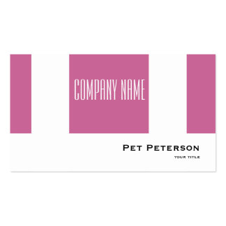 Minimalistic modern square purple pack of standard business cards