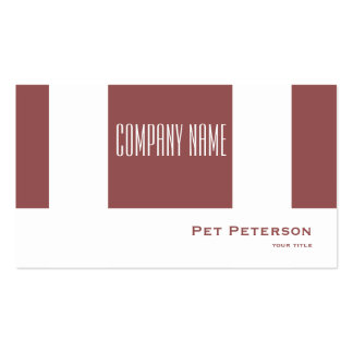 Minimalistic modern square Trend Color Marsala Pack Of Standard Business Cards