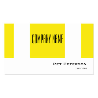 Minimalistic modern square yellow pack of standard business cards