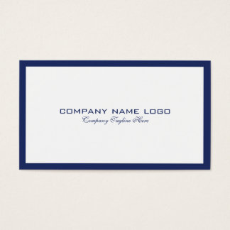 Minimalistic Navy-Blue Border On White