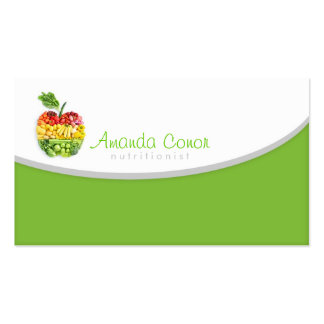 Minimalistic Nutritionist/Nutrition Coach Card Pack Of Standard Business Cards