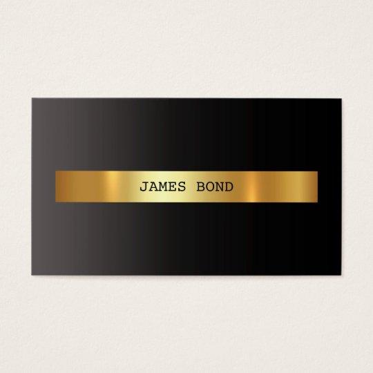 Minimalistic Ombre Black Vip Golden Foil Vip Business