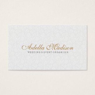 Minimalistic Plush White With Black & Gold Business Card
