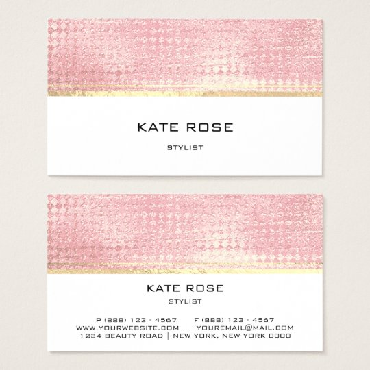 Minimalistic Rose Gold Peach Pink White Stylist Business