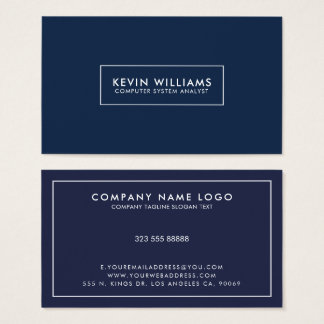 Minimalistic white border frame business card
