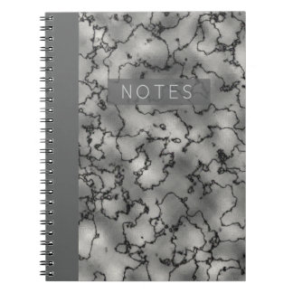 Minimalist's Dramatic Marble Notebook