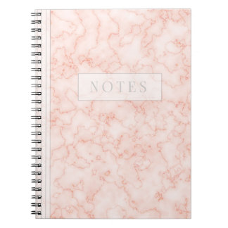 Minimalist's Rosey Marble Notebook