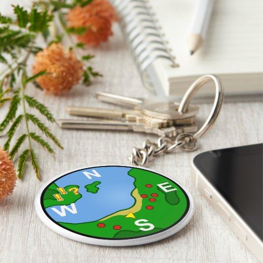 Minimap Basic Round Button Key Ring