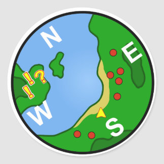 Minimap Classic Round Sticker