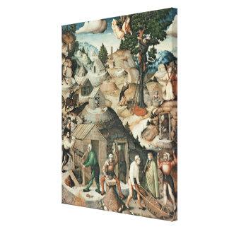 Mining landscape, 1521 canvas print