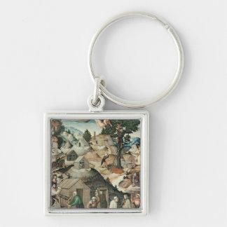 Mining landscape, 1521 key chain