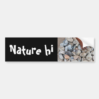 mining stones bumper sticker